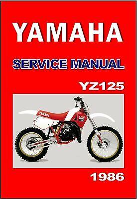 YAMAHA Workshop Manual YZ125 YZ125J 1982 VMX Maintenance Service /& Repair
