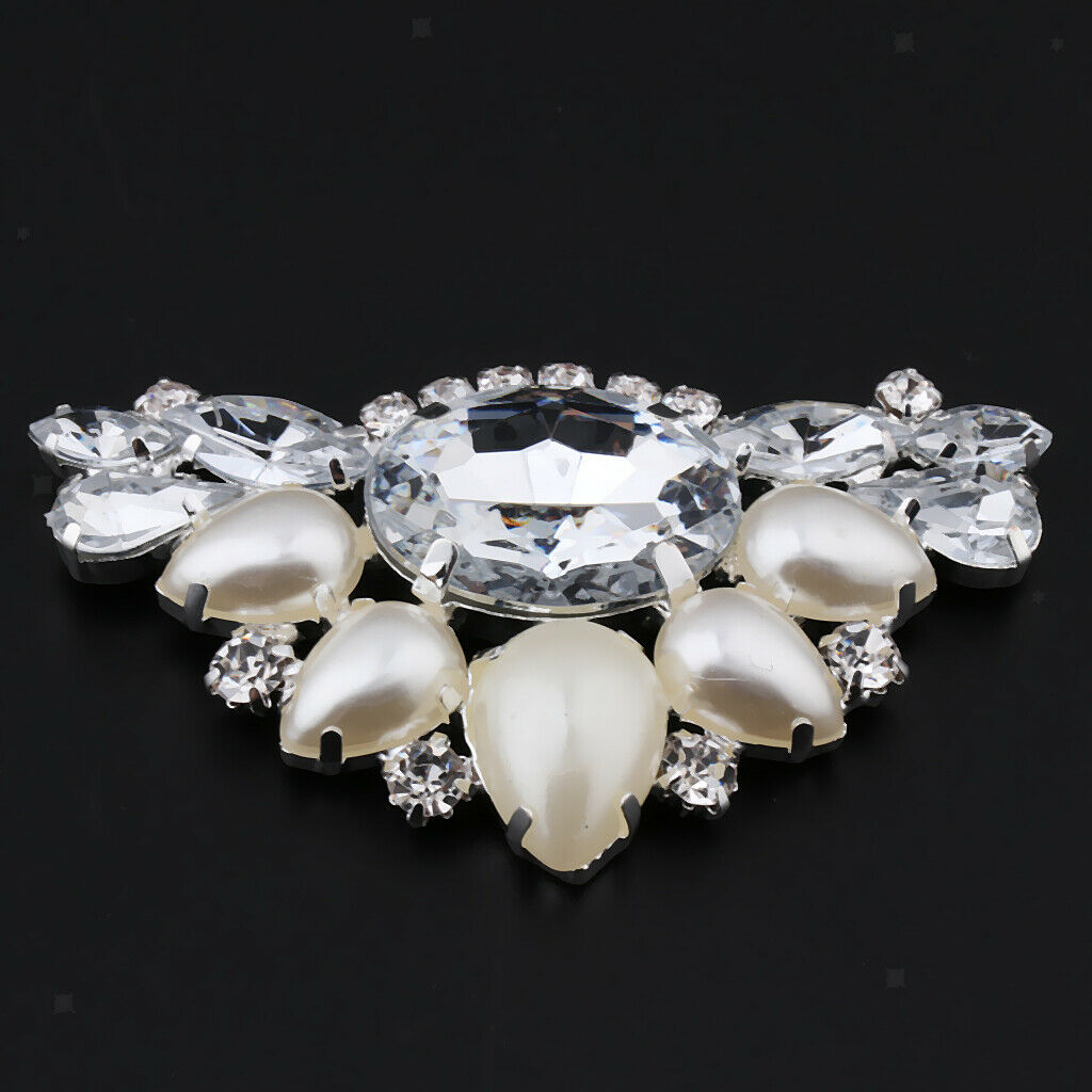 1pcs Crystal Shoe Clips Decorative Rhinestone Shoe Buckles Accessories For Women