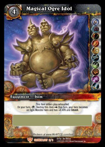 WOW MAGICAL OGRE IDOL LOOT CARD UNSCRATCHED UNSCRATCHED UNSCRATCHED 72c920