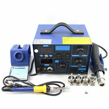 862D+ 2in1 SMD Soldering Iron Hot Air Rework Station Desoldering Repair 110V LS8