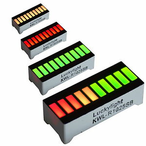 10-Segment-LED-Bargraph-Licht-Display-Rot-Gelb-Gruen-UK-Verkaeufer