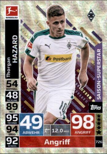 Thorgan Hazard Saison-Superstars Topps Match Attax Extra 18//19 726