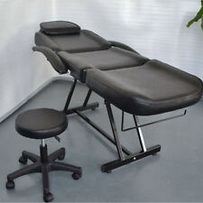 Black Facial Massage Salon Bed Spa Chair Tattoo Massage Bed Table Commercial