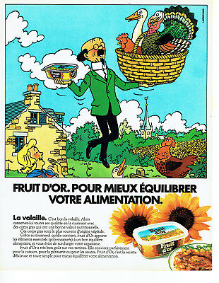 Collectibles Publicité Advertising 028 1985 Margarine Fruit D'or Pr Tounesol Volaille Breweriana, Beer