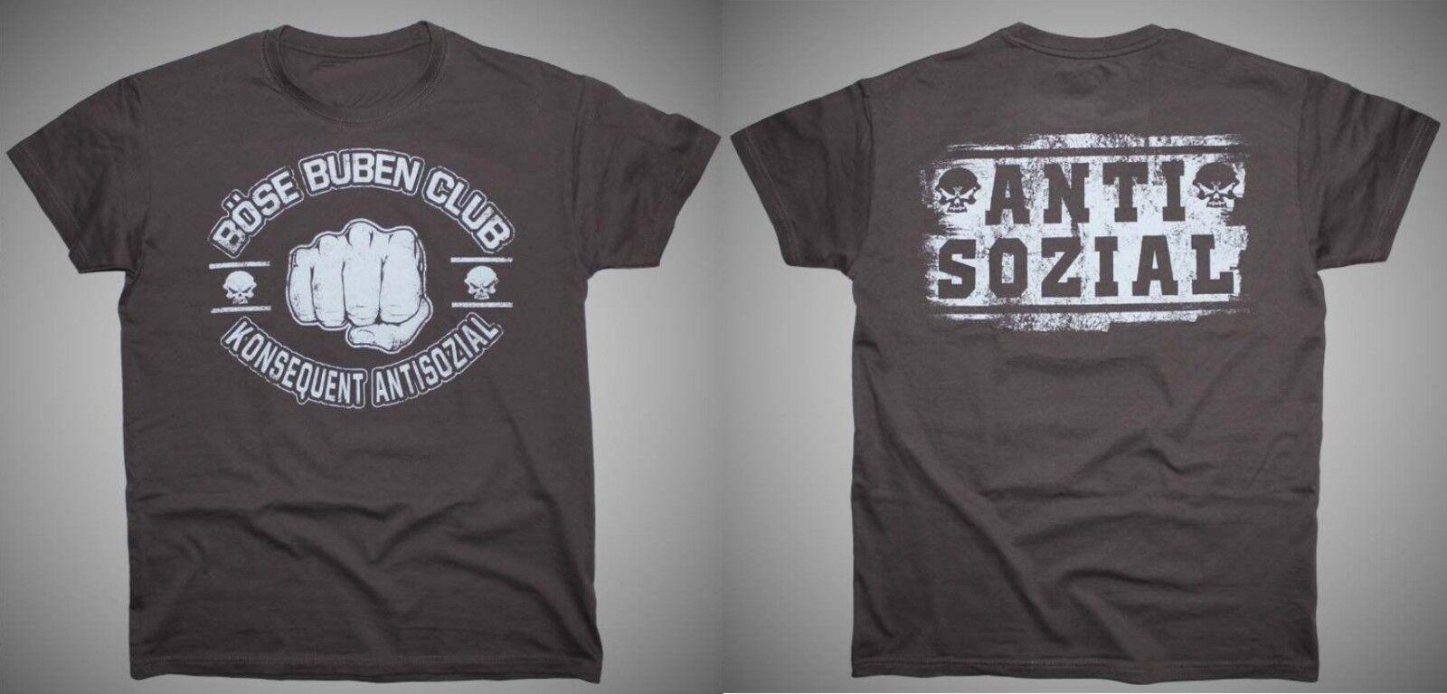T-Shirt Böse Buben Club - Antisozial ideal für ultras hooligans biker
