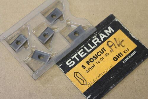 5x New Stellram APHM 16 04 PD R GH1 K10 Carbide Inserts CI343