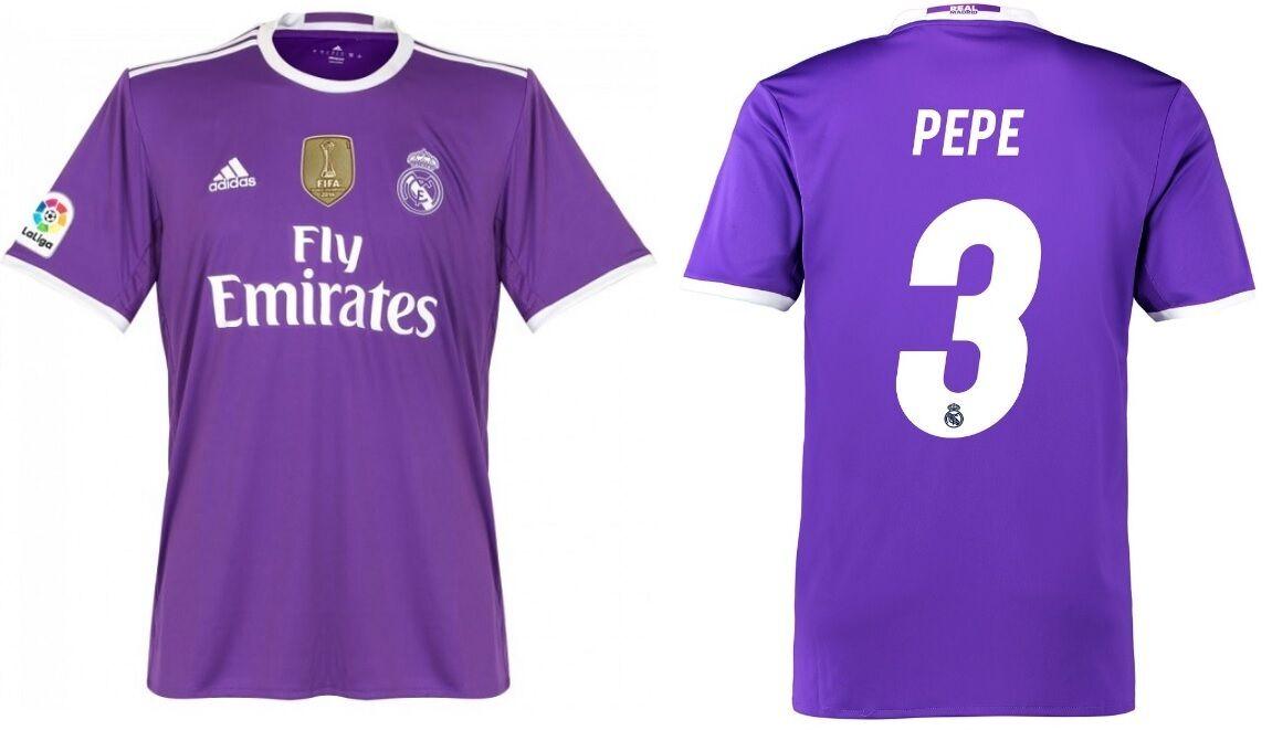 Trikot Trikot Trikot Adidas Real Madrid 2016-2017 Away WC Pepe 3 - Badge Klubweltmeister a67b21
