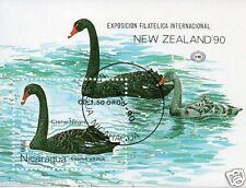 NICARAGUA CISNE NEGRO NEW ZEALAND'90 WATER BIRDS DUCKS RIVER # 39
