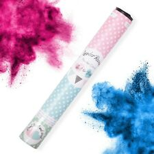 Baby Shower Gender Reveal Pink Blue Smoke Cannon Handheld Celebration Boy Girl
