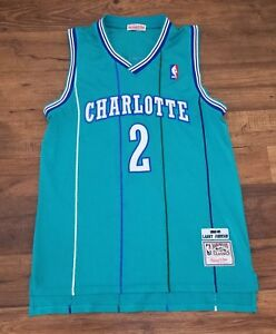 bf05a867ba4 Image is loading Larry-Johnson-2-Charlotte-Hornets-Mitchell-amp-Ness-