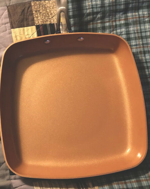 BulbHead Red Copper 10 Inch Square Fry Pan - Ceramic