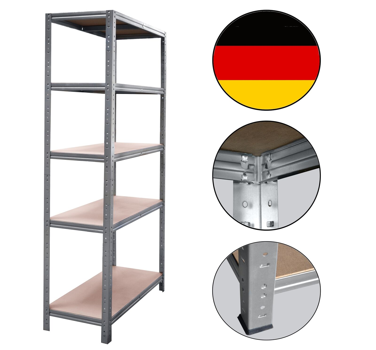 shelfplaza® PROFI Steckregal 230x150x40cm Akten Büro Garage Lager Werkstatt