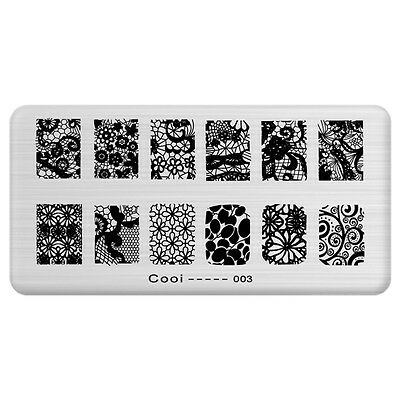 Nail Art Printing Plate Image Stamping Plates DIY Manicure Template Tools