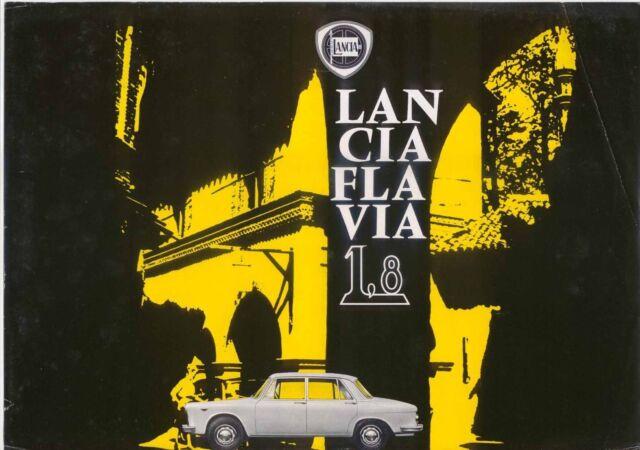 Lancia Flavia Berlina 1.8 1963-66 Original UK Market Leaflet Sales Brochure