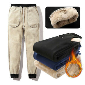 Men-Thick-Fleece-Thermals-Trousers-Outdoor-Winter-Warm-Pants-Joggers-Sports