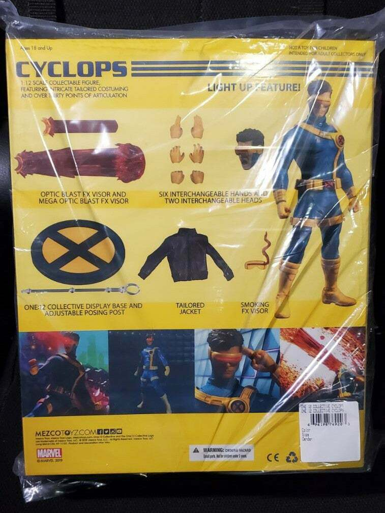 Mezco One 12 Cyclops X-Men Action Figure with Light Up Feature
