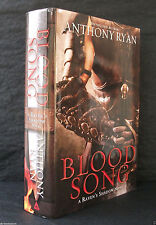 BLOOD SONG Anthony Ryan US 1st EDITION HB/DJ True First Ed Ravens Shadow 1