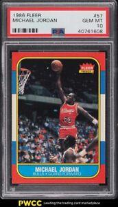 1986 Fleer Basketball Michael Jordan ROOKIE RC #57 PSA 10 GEM MINT