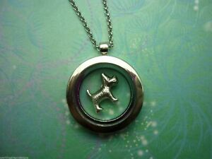 Adorable-Floating-Charm-Locket-Necklace-with-Silver-Dog-Charm-fun-gift-necklace