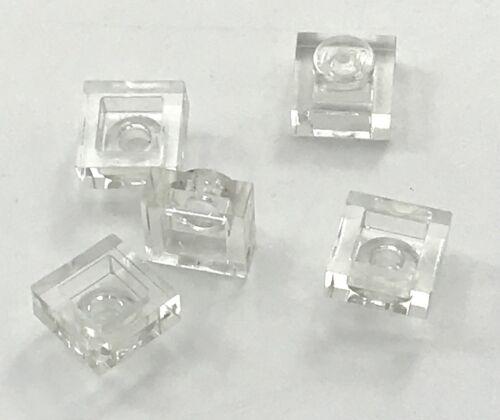 Lego 5 New Trans-Clear Plates Transparent 1 x 1 Dot Pieces Parts