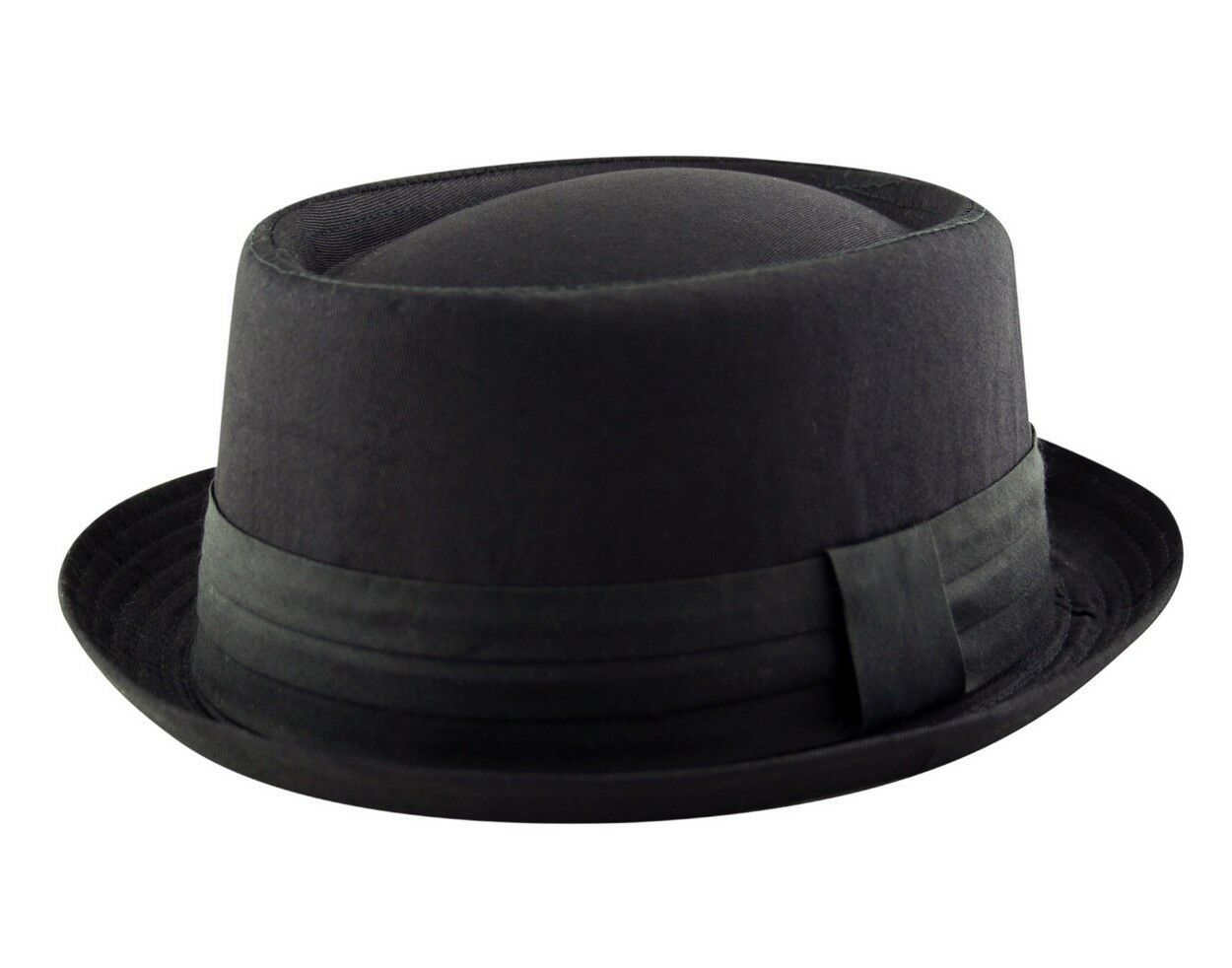9706d6e59 HEISENBERG - BREAKING BAD - PORK PIE Trilby Porkpie Cotton Hat Cap Black