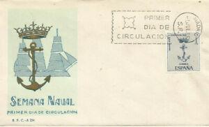 FDC-Sobre-Primer-dia-Espana-edifil-1737-Semana-Naval-1966