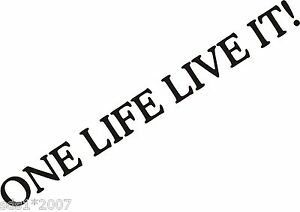 Details About One Life Live It Stickers 2x 900mm Vinyl Car Decals 4x4 Land Rover Discovery