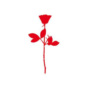Rose-12cm-Rouge-Voiture-Vitre-de-Porte-Meuble-Deco-Protection-Depeche-Mode