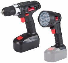 18 Volt Cordless 3/8 inch Drill Driver Keyless Chuck and LED Flashlight