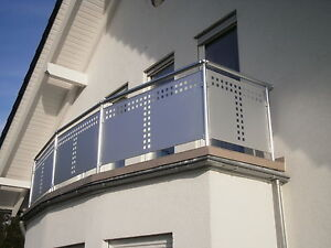 Balkongelander Lochblech Aluminium Balkon Gelander Ebay