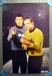 2001-Classic-Star-Trek-Poster-Kirk-amp-Spock-24-034-X36-034-STPO-2890