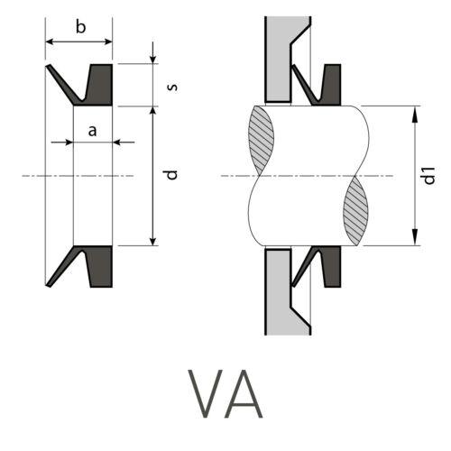 FPM 1 V-Ring VA 28 aus FKM