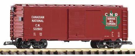 PIKO G SCALE CN STEEL BOXCAR 532602, MAPLE LEAF | BN | 38849