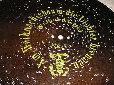 """Am Weihnachtsbaum Die Lichter Brennen Polyphon Platte 28 Cm Christmas Disc 11"""" Angemessener Preis"""