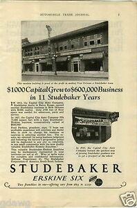 Capital City Auto >> 1927 Paper Ad Studebaker Dealership Store Sign Capital City Auto