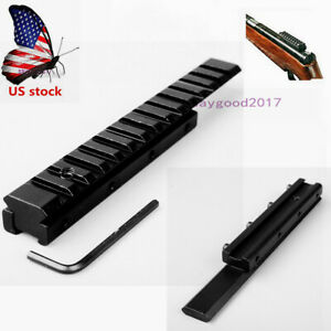 US 11mm to 20mm Picatinny Extend 155mm Rail Base adapter Mount for Rifle Sight