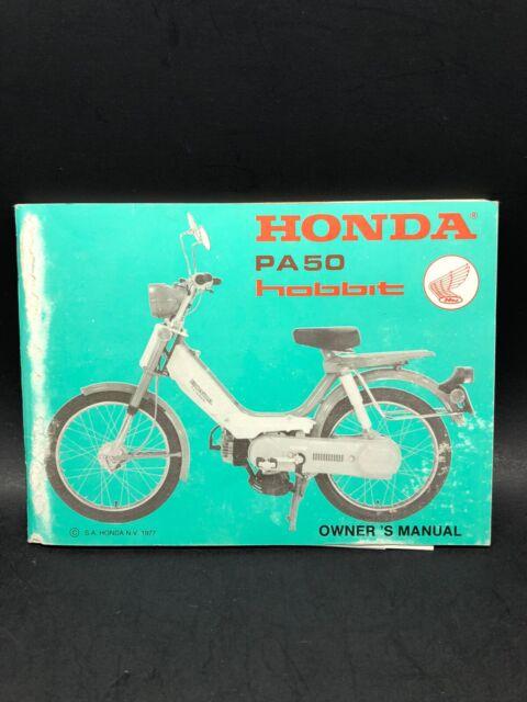 1977 Honda Pa 50 Hobbit Owners Manual Motorcycle Moped