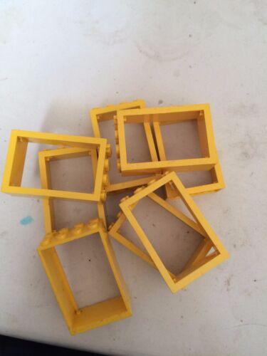 Più Economici Su Fast Gratis 4 x grandi finestre CORNICI giallo LEGO