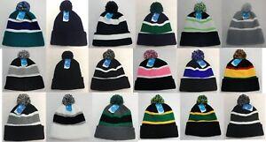 5e5535d2 24pc Solid Color Striped Pompom Beanie Winter Hat Toboggan WHOLESALE ...