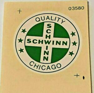 Schwinn-Bike-Original-Decal-Quality-Chicago-1-1-2-Diameter-From-Schwinn-Dealer