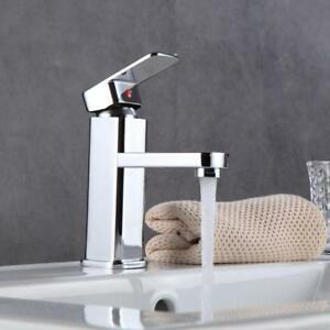 Bathroom-Square-Mixer-Tap-Bath-Spout-Kitchen-Basin-Sink-Vanity-Faucet-Chrome-Tap