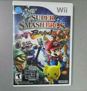 Wii-SUPER-SMASH-BROS-BRAWL-Nintendo-Game-2008-Zelda-Mario-Picachu-Metroid-Sonic