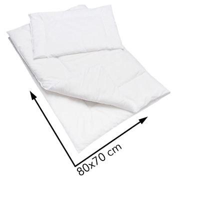 Suave Anti Alergia Edredón Edredón 80x70 cm con almohada para vivero bebé Cuna O Cochecito de Niño