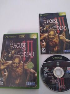HOUSE-OF-THE-DEAD-III-3-Original-Xbox-COMPLETE-Tested-Zombie-Horror-Rare-Game