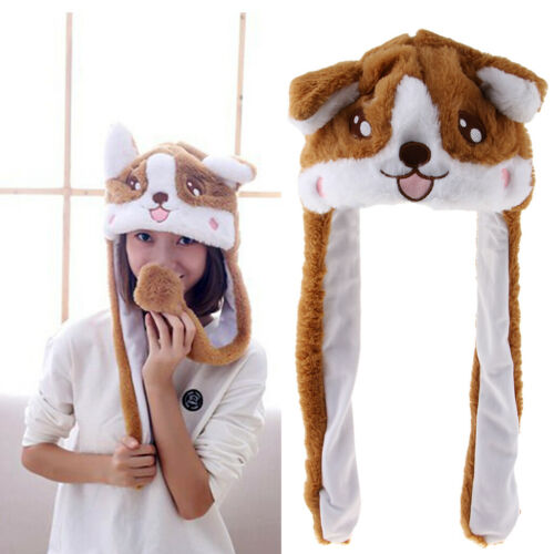 Winter Warm Plüsch Tier Ohrenschützer Hüte Mütze Hundehut Tiermütze
