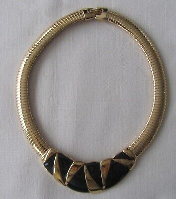 Oscar De La Renta Multi Strands Matt Gold Tone Chain Vintage Statement Necklace