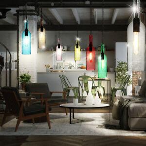Rgb led pendelleuchten esszimmer fernbedienung glasflaschen deckenlampen dimmbar ebay for Led pendelleuchten esszimmer