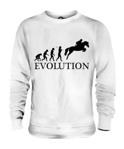 SHOWJUMPING EVOLUTION OF MAN UNISEX SWEATER  Herren Damenschuhe LADIES GIFT EQUESTRIAN