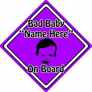 Personalised-Bad-Baby-Child-On-Board-Car-Sign-Baby-Face-Silhouette-Purple