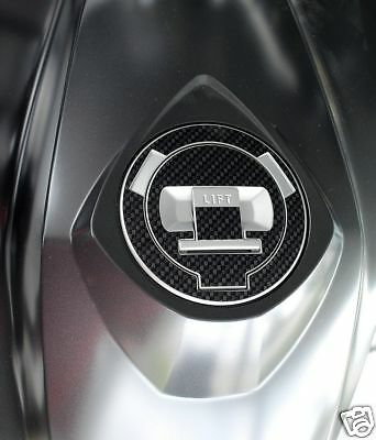 Für BMW F650GS Tankdeckel Carbonlook Folie blau
